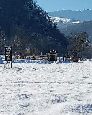 I campi in Val Varaita riposano sotto la neve